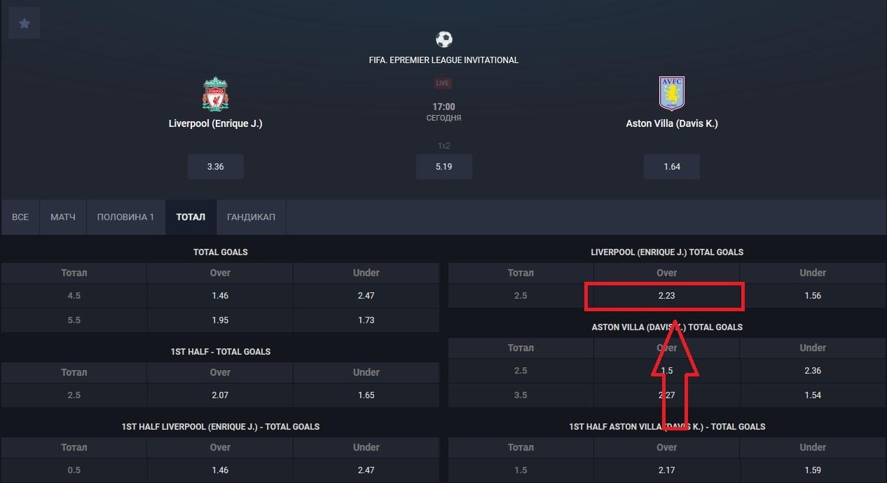 матч «Liverpool (Enrique J.)» - «Aston Villa (Davis K.)»