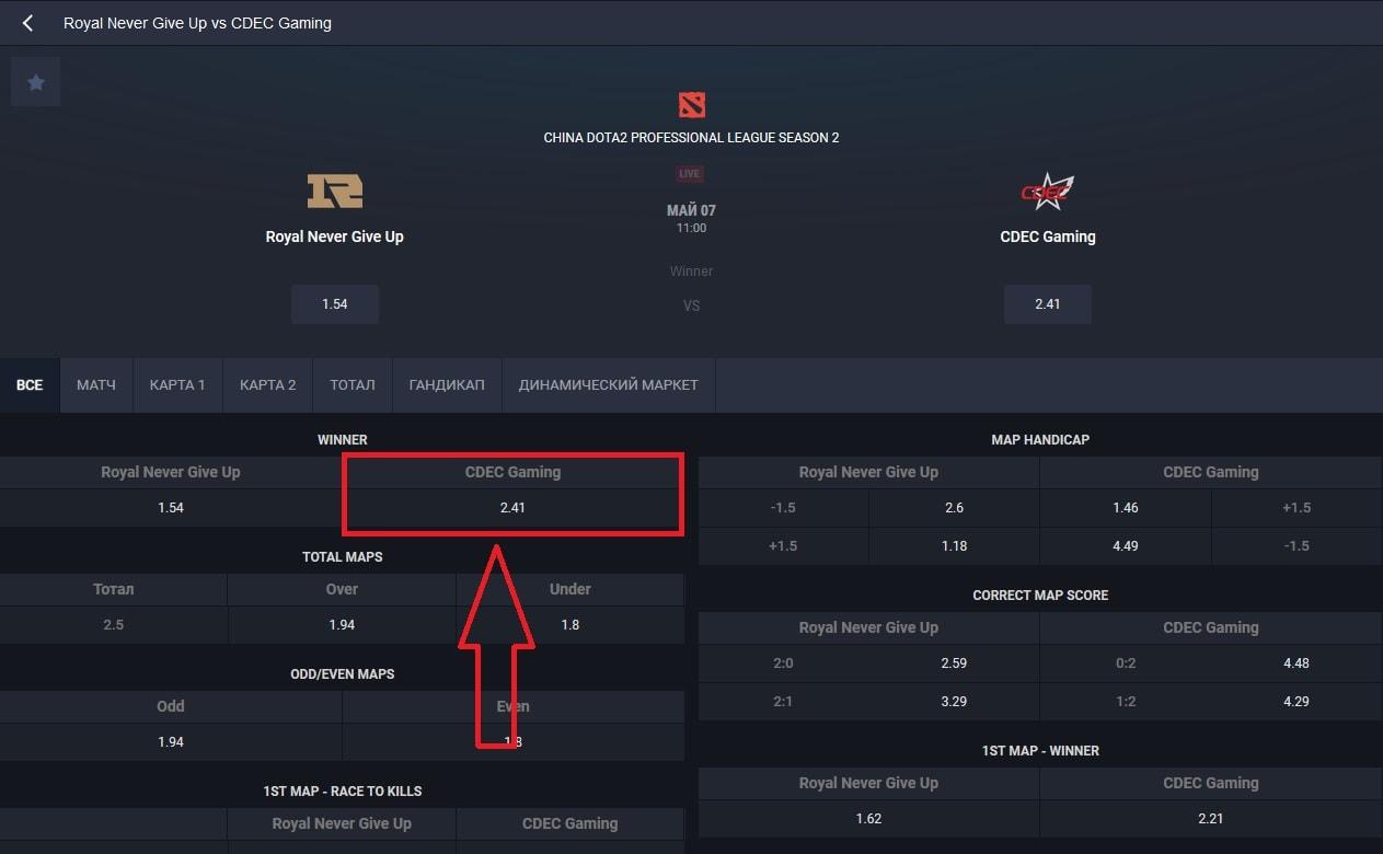 киберматч «Royal Never Give Up» и «CDEC Gaming»